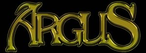 ARGUS - band logo - gold - black - 2013