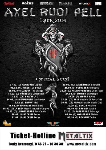 Axel Rudi Pell - 2014 European Tour - promo flyer