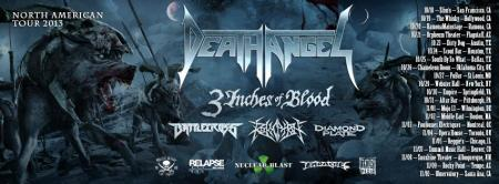 Death Angel - North American Tour - banner promo - 2013