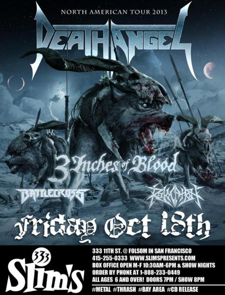 Death Angel - Record Release Party - promo flyer - 2013