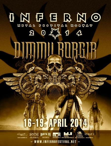 Dimmu Borgir - Inferno Metal Festival Norway - promo flyer - 2014