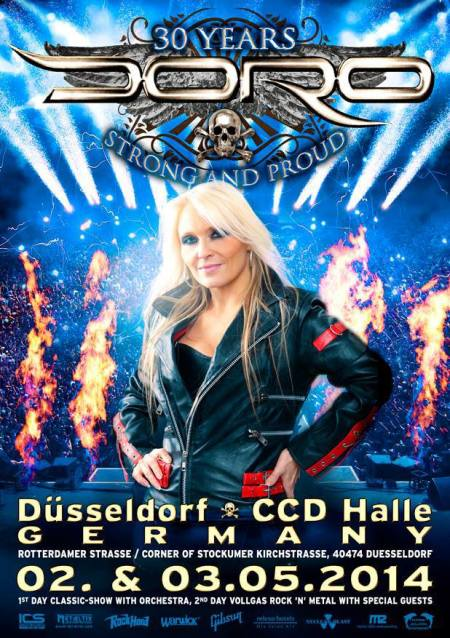 Doro - 30 Years Strong And Proud - promo flyer - #1 - dusseldorf - 2013