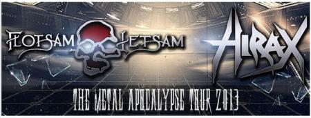 Flotsam And Jetsam - Hirax - 2013 - Tour - promo banner