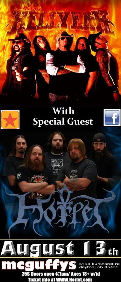 Horlet - Hellyeah - August 13 - concert - 2013 promo flyer