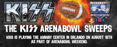 Kiss - Arenabowl Sweeps - promo banner - 2013 - August