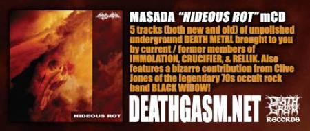 Masada - promo banner - Hideous Rot - 2013