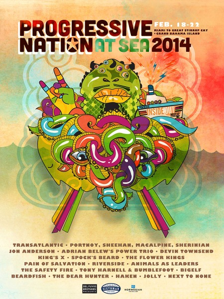PROGRESSIVE NATION AT SEA 2014 - promo flyer - EB POSTER