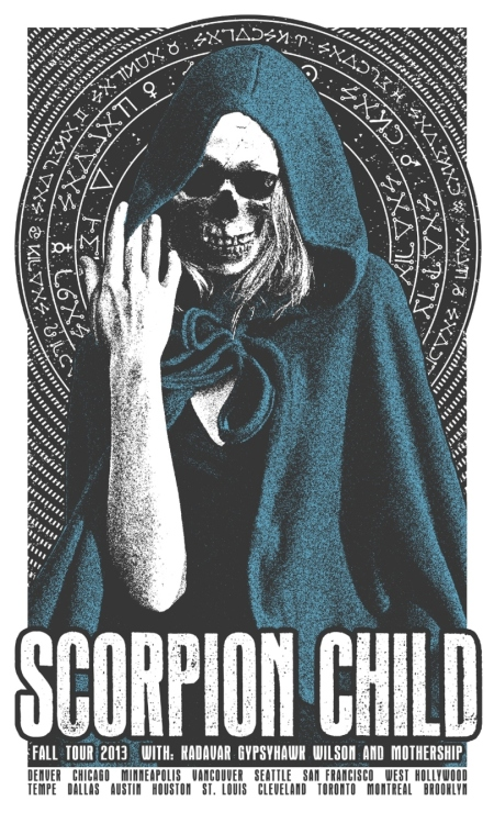 Scorpion Child tour poster - promo - 2013