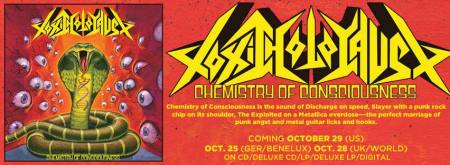 TOXIC HOLOCAUST - Chemistry Of Consciousness - prom album banner - 2013