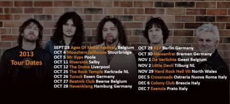 Tygers Of Pan Tang - tour dates - 2013 - promo banner - band