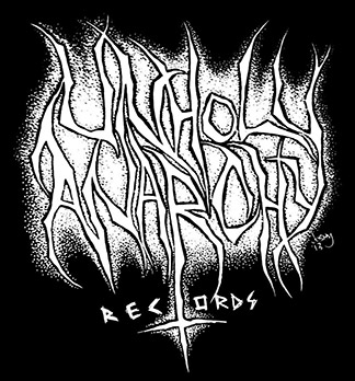 Unholy Anarchy Records - large logo - B&W