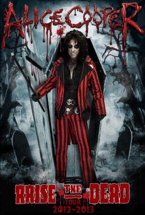 Alice Cooper - Raise The Dead Tour - 2012 - 2013 - promo flyer