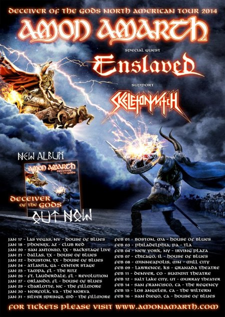 Amon Amarth - North American Tour - 2014 - promo flyer