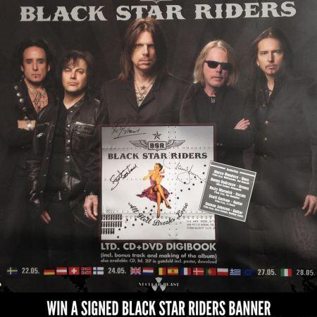 Black Star Riders - vinyl banner - promo - classic rock mag - 2013