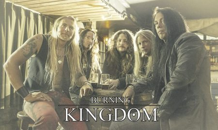 Burning Kingdom - promo band pic - band logo - 2013 - September