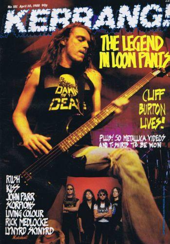 Cliff Burton - Kerrang! - 1988 - promo cover pic
