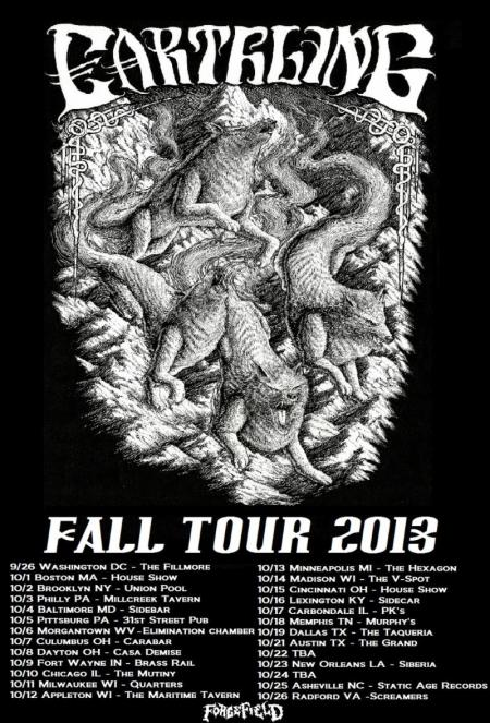Earthling - October Tour - 2013 - promo flyer