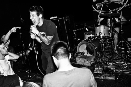 Full Of Hell - promo live band pic - 2013 - #1 - B&W