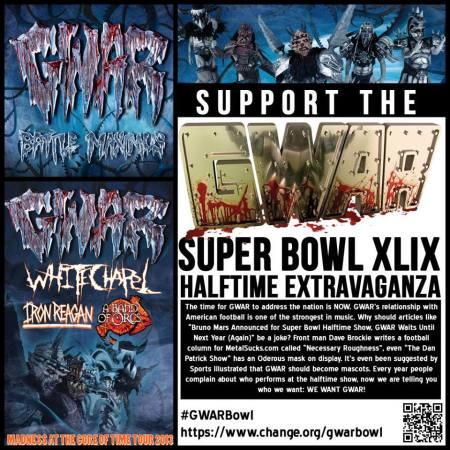 GWAR - Super Bowl XLIX - promo flyer - 2013