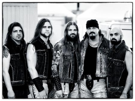 Iced Earth - promo band pic - #77 - 2013 - B&W