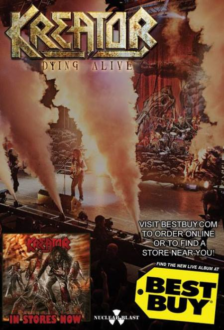 Kreator - Dying Alive - Best Buy - promo flyer - 2013