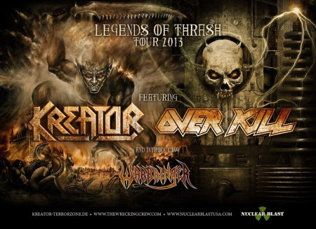 Kreator - Overkill - Legends Of Thrash Tour 2013 - promo flyer