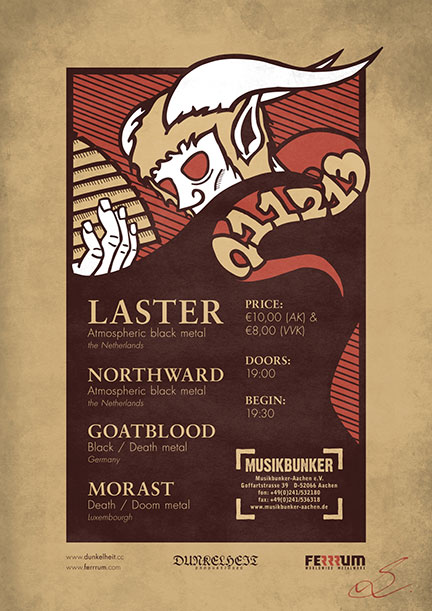 Laster - Live Performances - promo flyer - 2013 - #1