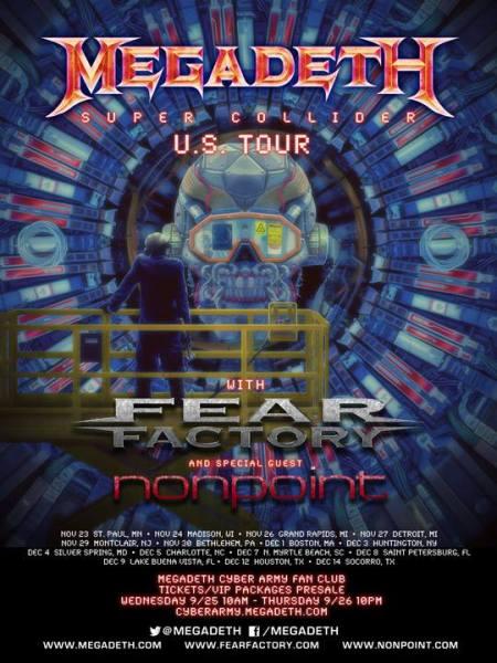 Megadeth - Super Collider - US Tour - 2013 - promo flyer