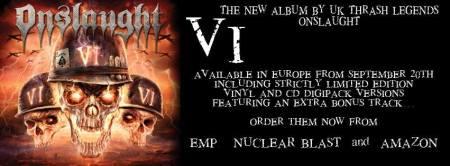 Onslaught - VI - promo album banner - 2013