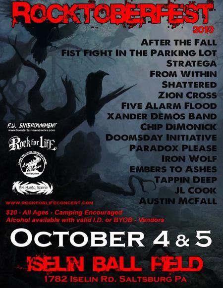 Rocktoberfest - 2013 - promo flyer - Chip Dimonick