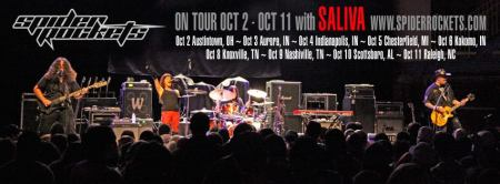 Spider Rockets - Saliva - Tour Dates - Oct - 2013 - promo banner