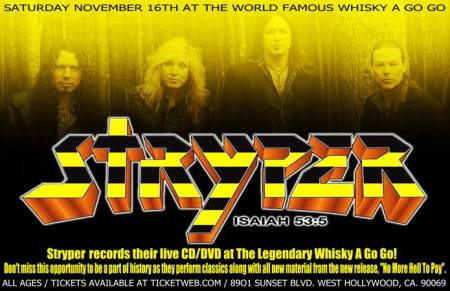 Stryper - Live At The Whisky A Go Go - promo banner - 2013