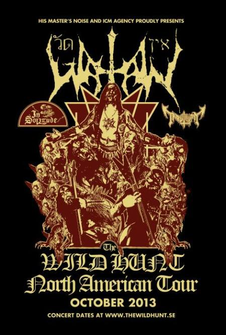 Watain - The Wild Hunt - North American Tour - Oct - 2013 - promo flyer