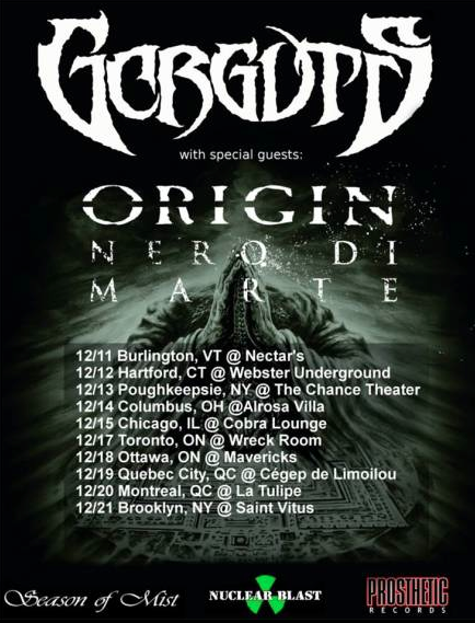 Gorguts - December 2013 - Tour - Promo Flyer