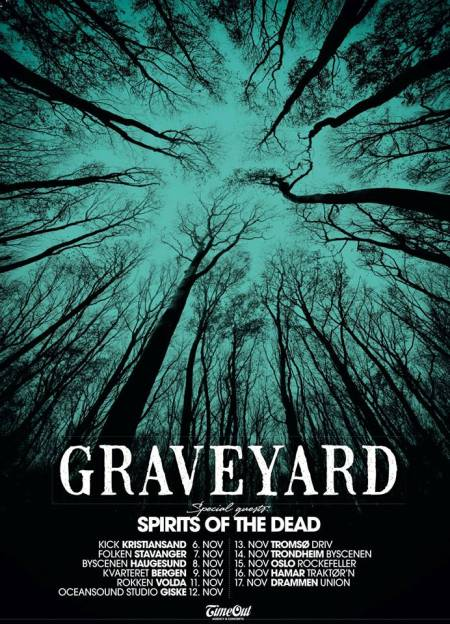 Graveyard - Spirits Of The Dead - tour flyer - November 2013