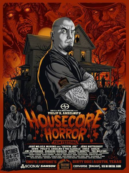 Housecore Horror Film Festival - 2013 - promo flyer