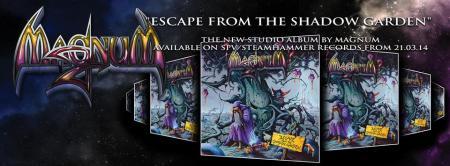 Magnum - Escape From The Shadow Garden - promo album banner - 2013
