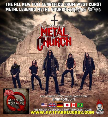Metal Church - Generation Nothing - promo flyer - October - 2013