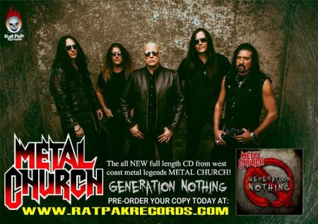 Metal Church - promo band - generation nothing - flyer - 2013