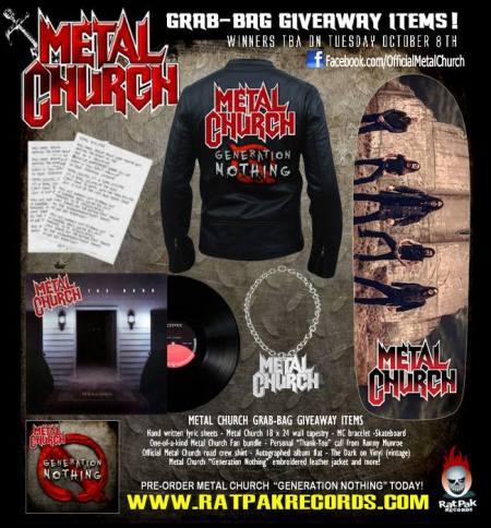 Metal Church - Rat Pak Records - grab-bag giveaway - promo flyer - 2013