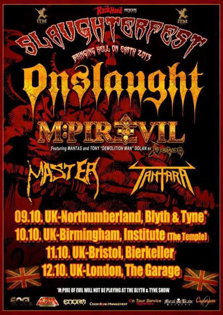 Onslaught - slaughterfest - 2013 - promo flyer