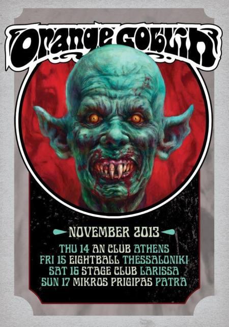 Orange Goblin - Greece - Tour Poster - November - 2013
