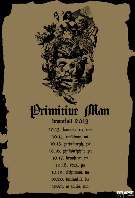 Primitive Man - Autumn Tour - 2013 - promo flyer