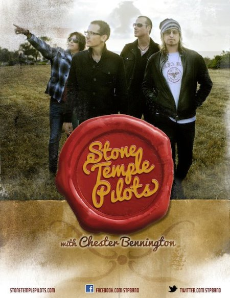 Stone Temple Pilots - Chester Bennington - promo band flyer - 2013 - #477