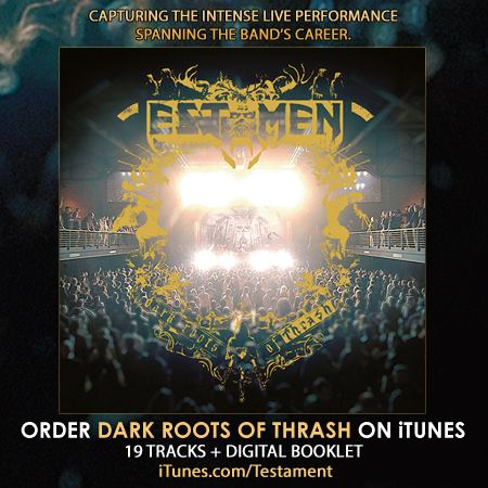 Testament - Dark Roots Of Thrash - promo flyer - itunes - 2013