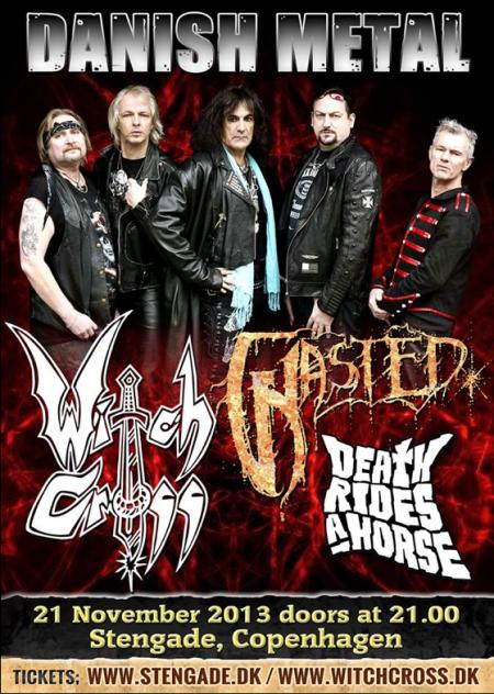 Witch Cross - Danish Metal - show flyer - November - 2013