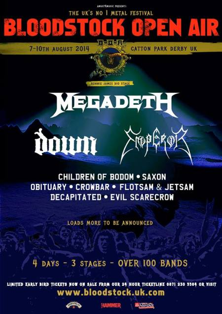 Bloodstock Open Air - 2014 - promo flyer - #1
