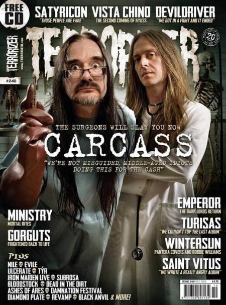 Carcass - Terrorizer - promo magazine cover - #240 - 2013