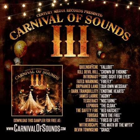 Carnival Of Sounds III - Century Media Records - promo flyer - 2013