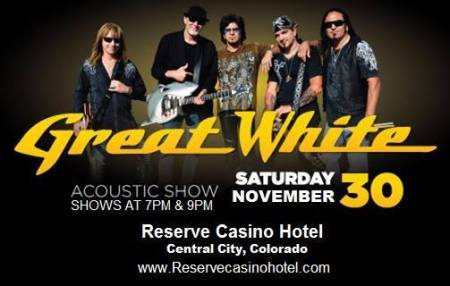Great White - Acoustic Show - promo flyer - Colorado - 2013